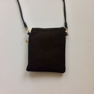 Nine West Chocolate Small Crossbody Bag Leather